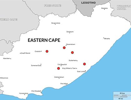 Msenge African Safaris - Eastern Cape Hunting Map